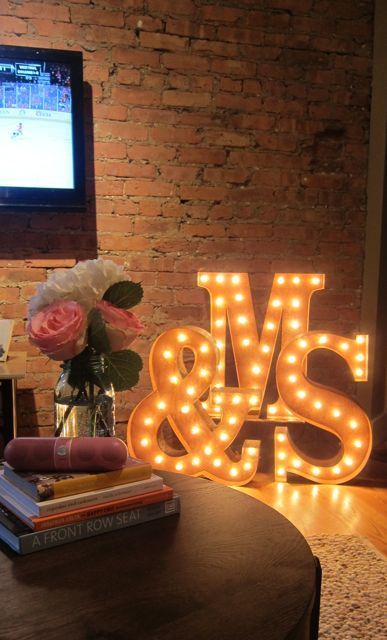 Mr and Mrs marquee lights