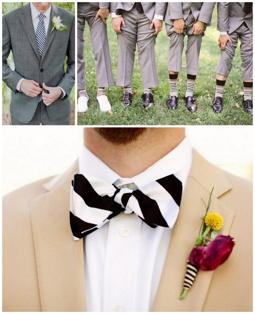 groom stripes wedding