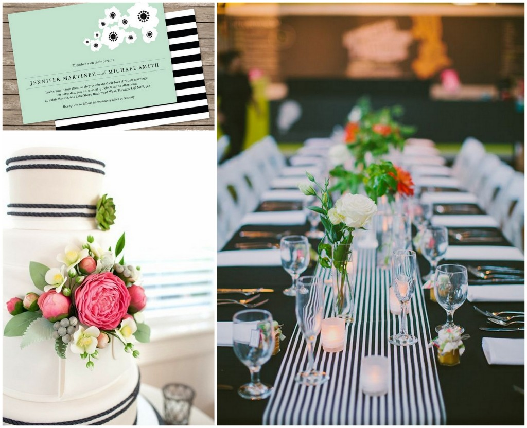 striped wedding accents