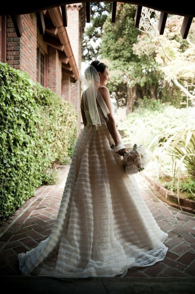 subtle stripes wedding gown wedding stripes