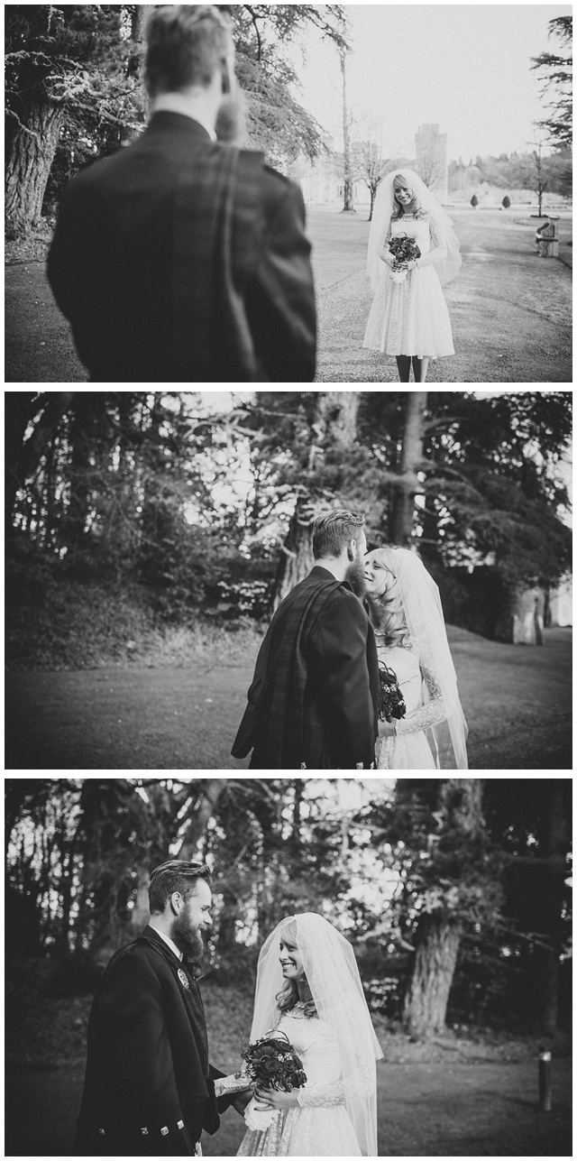 first look wedding photo ireland