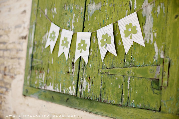 St patrick's day banner Irish style craft