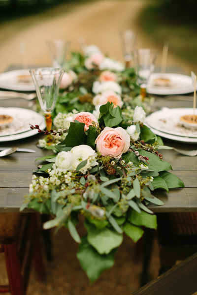 wedding table runner garland  Tabletop Garlands