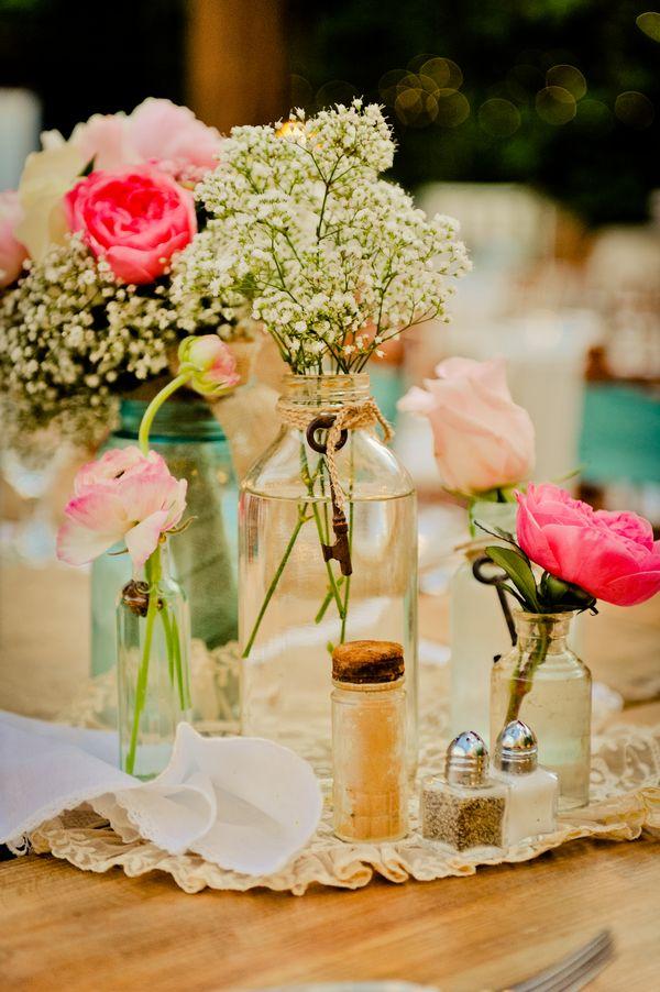 vintage wedding table flowers Tabletop Garlands