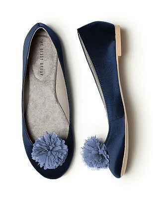 Sunday Shoes 3 -mixy matchy blue slip on shoe with blue flower