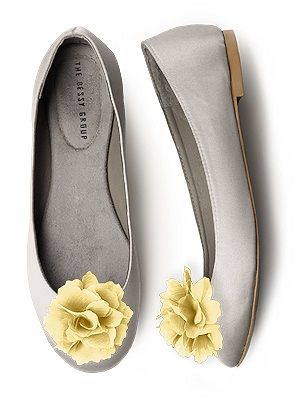 Sunday Shoes 3 -mixy matchy lemon flower on top of grey slip on shoe