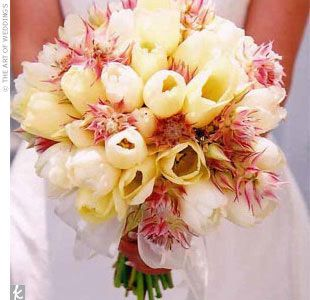 mixed tulip bouquet Tulip Wedding Flowers
