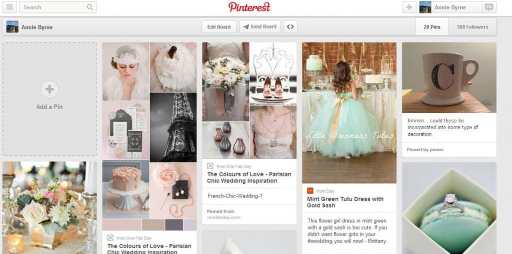 Pinterest wedding board