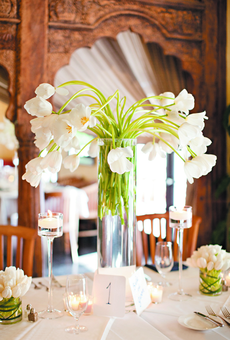 elegant tulip centerpieces Tulip Wedding Flowers