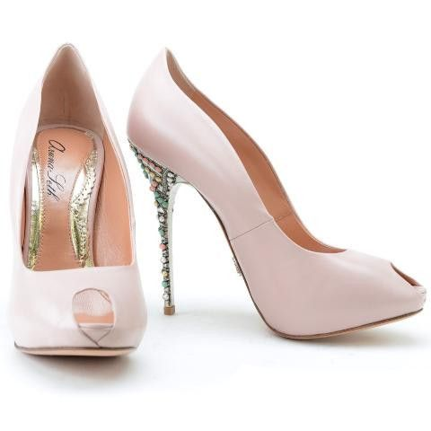 powder pink bridal shoesSunday Shoes-Bridal