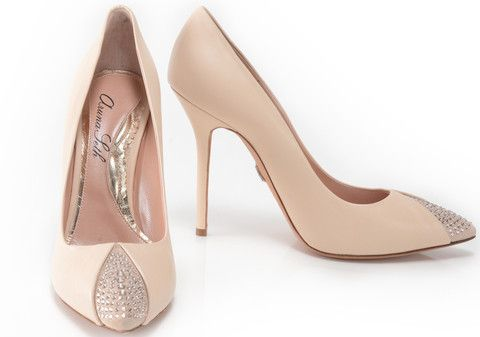 sophisticated blush pink and glitter high heel bridal shoe Sunday Shoes-Bridal