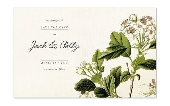botanic wedding invitations