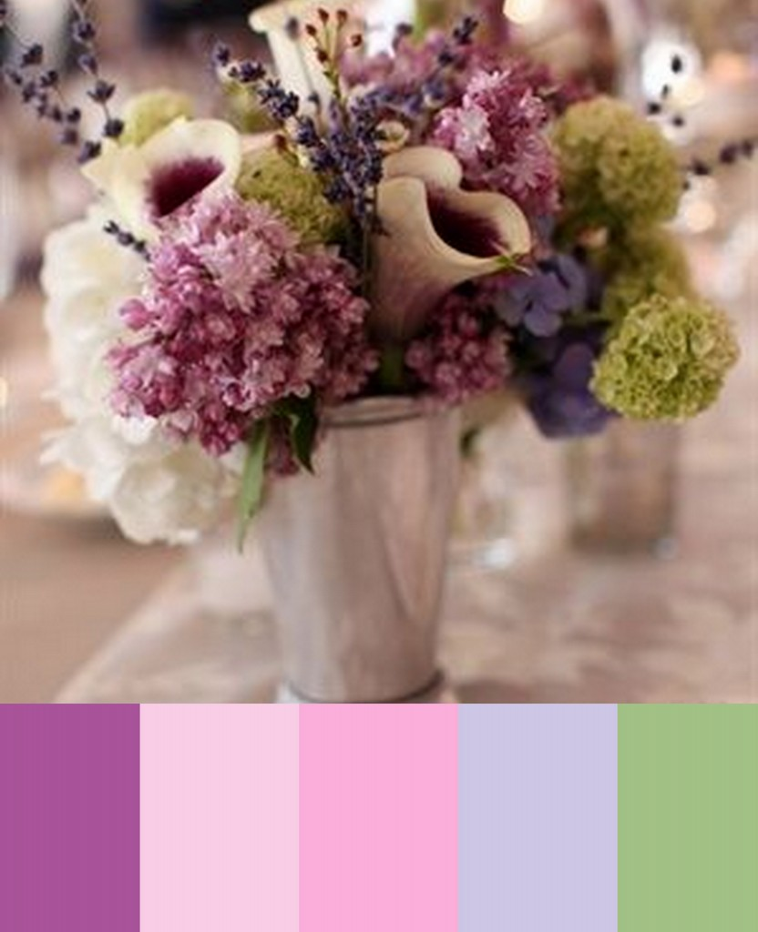 liliac purple and pink wedding colors