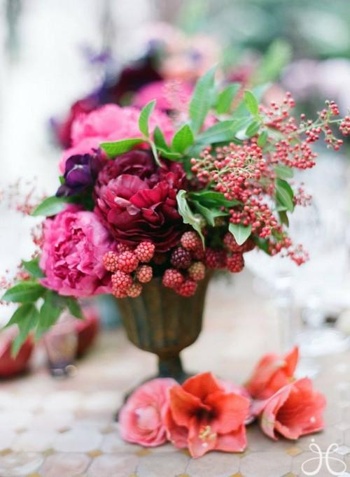 Berry floral arrangements