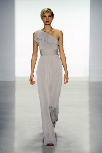 soft grey bridesmaids dress