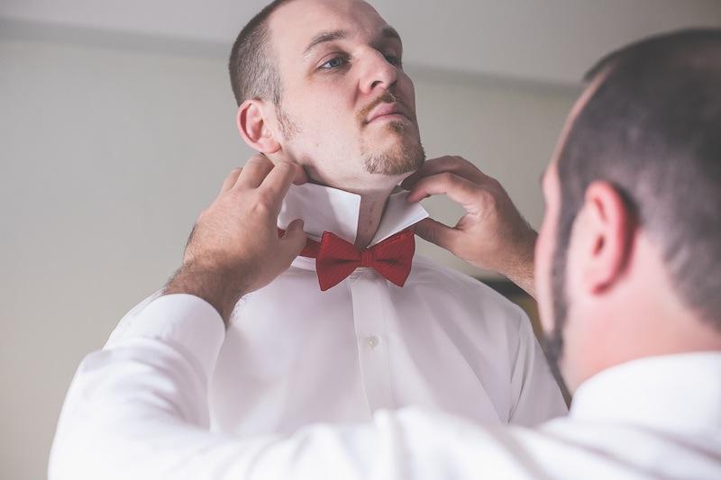 red tie groom