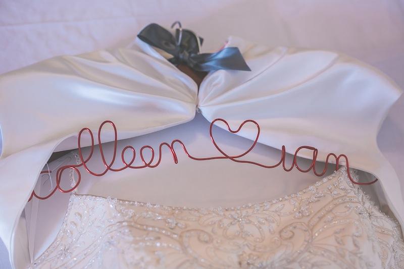 red wedding hanger