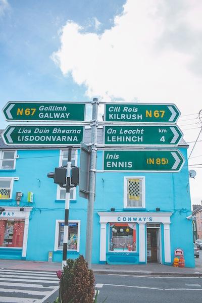 Irish town signs