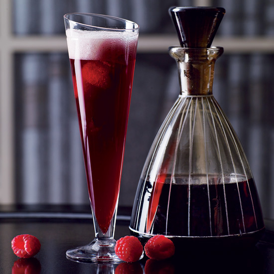 Red christmas champagne cocktail