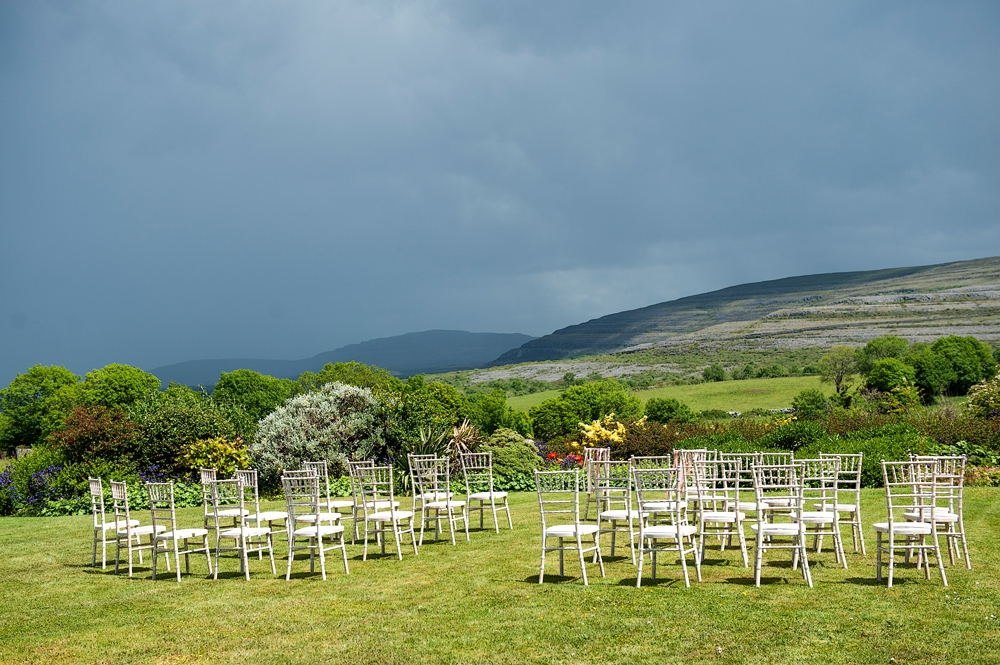 outdoor garden wedding the burren Ireland