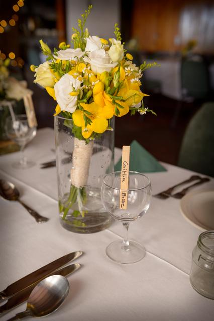 bright yellow bridal bouquet