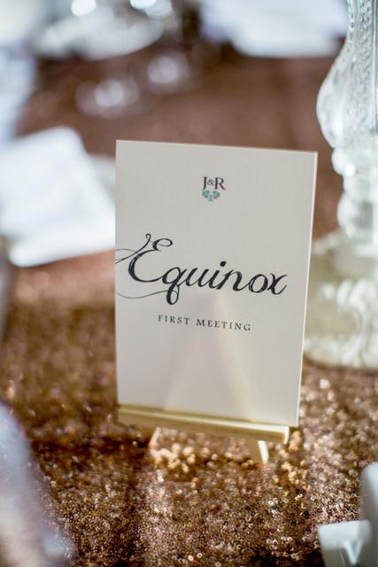 sentimental wedding Table names
