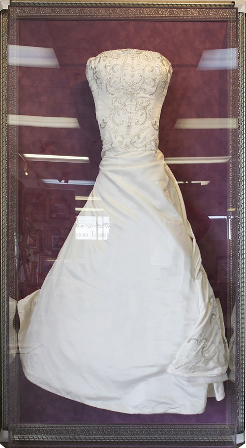 framed wedding dress