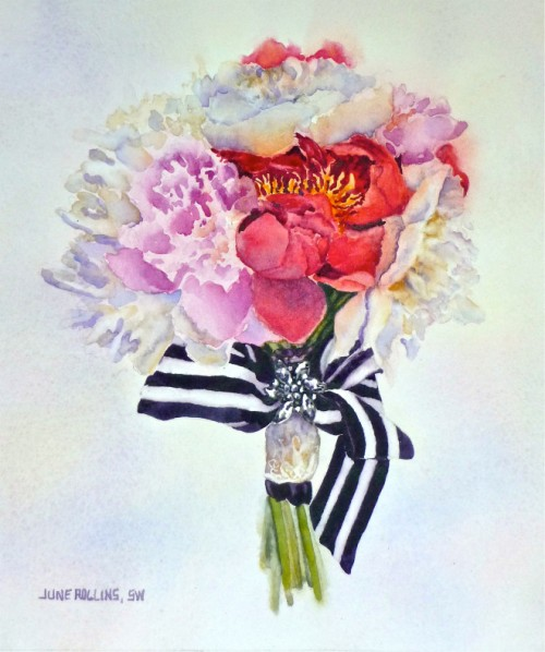 bridal bouquet watercolor