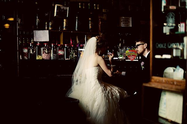 Irish wedding pub