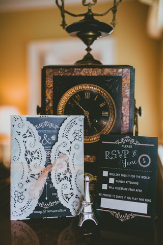 doily wedding invitation Ballymagarvey Destination Wedding