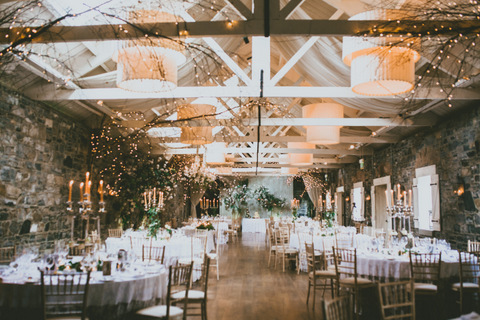 fairy light wedding venue