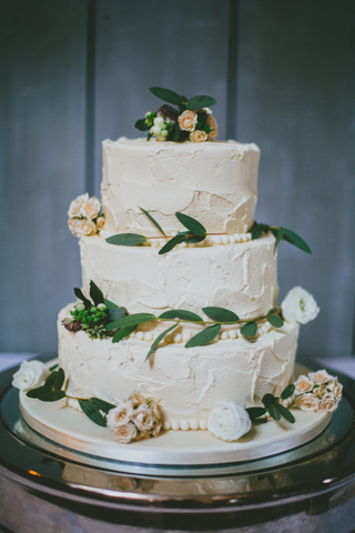 buttercream soft frosted wedding cake