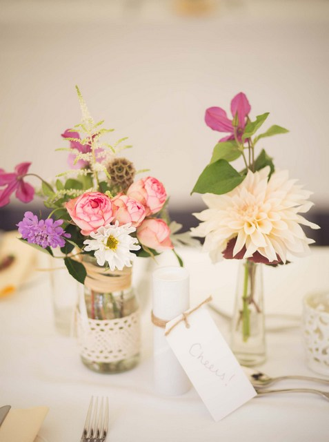 wildflower table flowers wedding