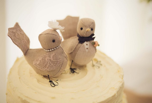 love birds cake topper