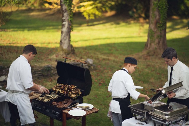 wedding day BBQ dinner
