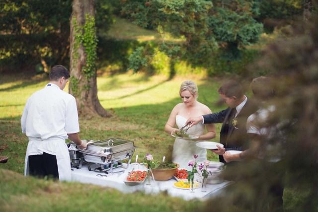 BBQ wedding dinner