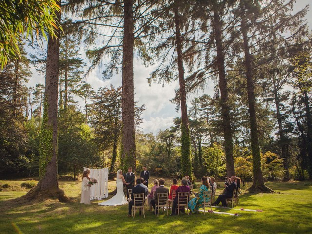 outdoor garden wedding Ireland
