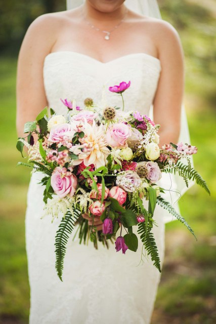 loose Irish wildflower wedding bouquet