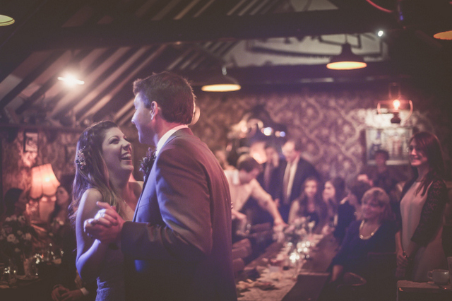Irish pub wedding reception