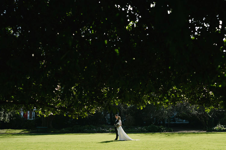 Outdoor wedding in the park Dublin Ireland