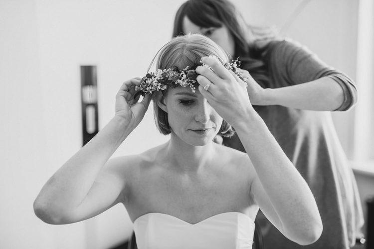 bride's floral head wreath Ireland