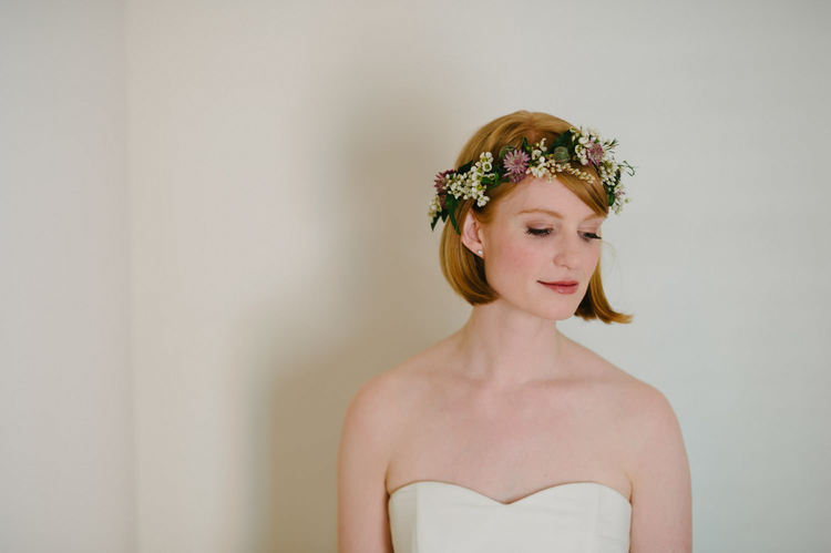 Bride floral head wreath Ireland