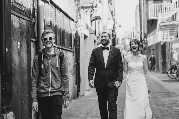 urban wedding in Dublin Ireland