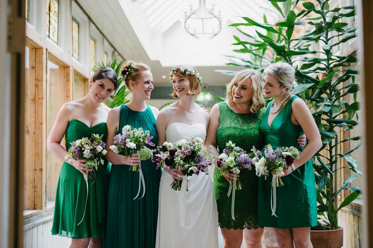 green purple plum lavender wedding in Dublin Ireland