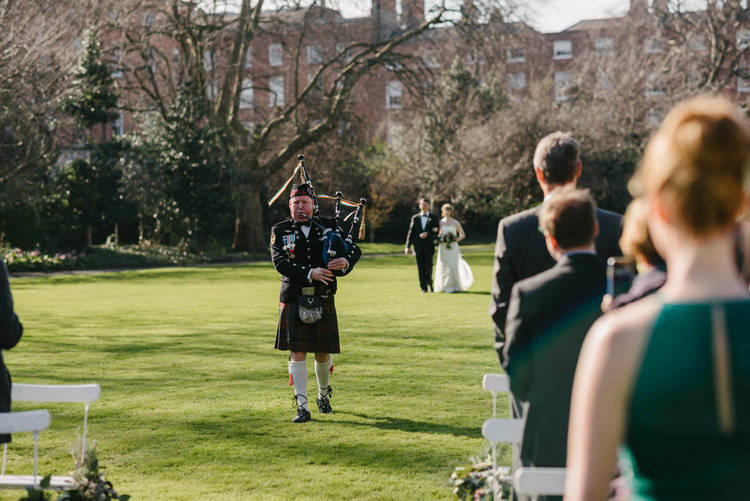 Outdoor destination wedding in Dublin Ireland