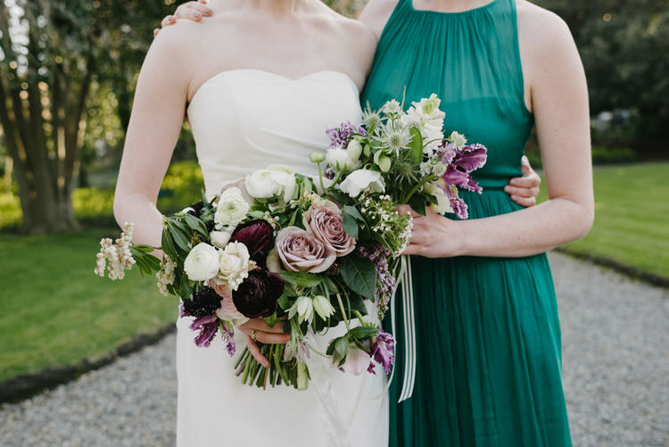purple, lavender plum wedding flowers