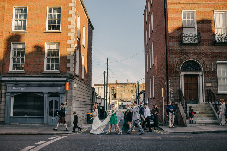 Urban Outdoor wedding in Dublin Ireland