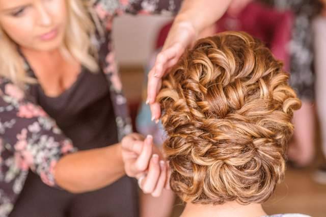 bridal hair Irish wedding