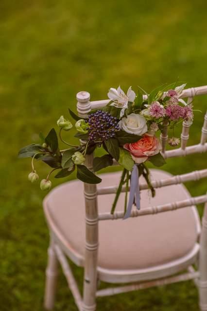 Chair flowers wedding Ireland