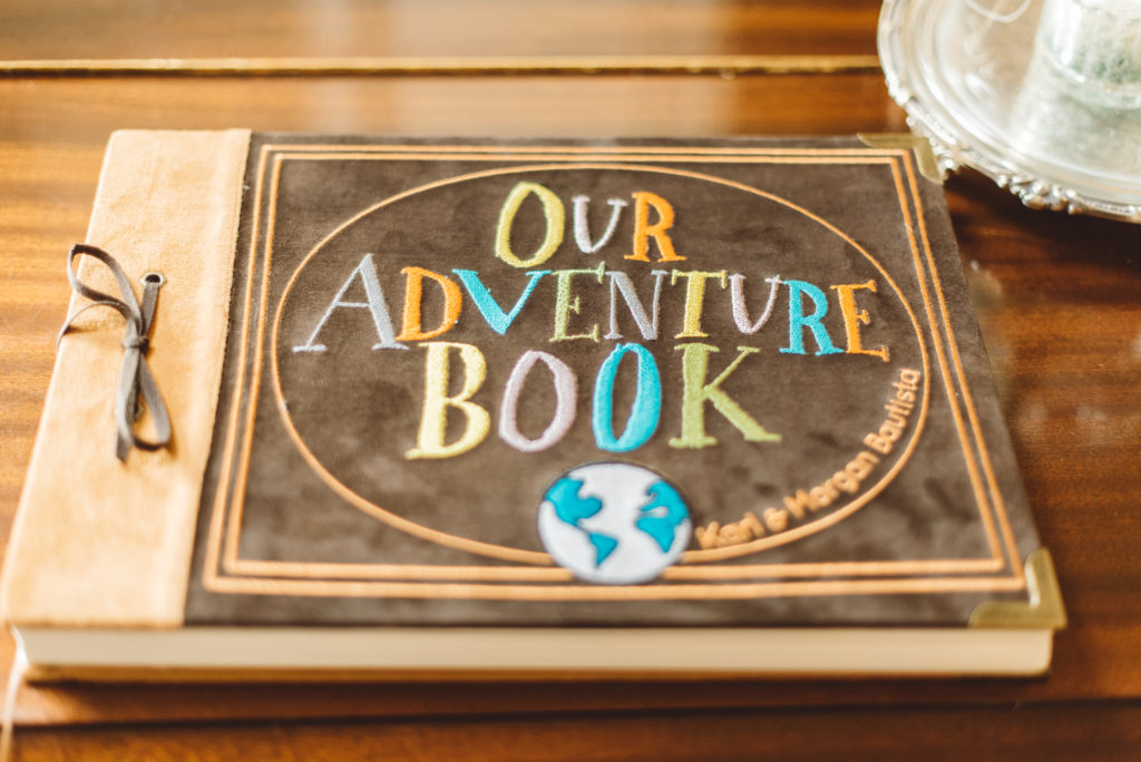 Disney UP themed wedding guest book